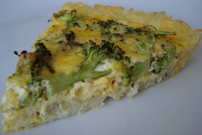 Broccoli Cheese Quiche with a Rice Crust | The Complete Book