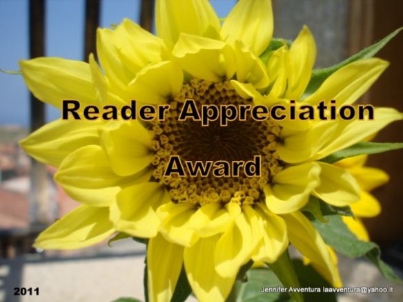 The Reader Appreciation Award 2012