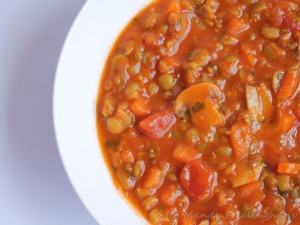 Split pea minestrone