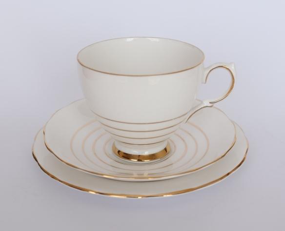 Handpainted queen anne bone china
