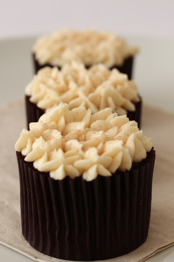 Olive oil chocolate chiffon cupcakes