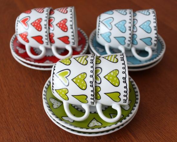 heart espresso cups