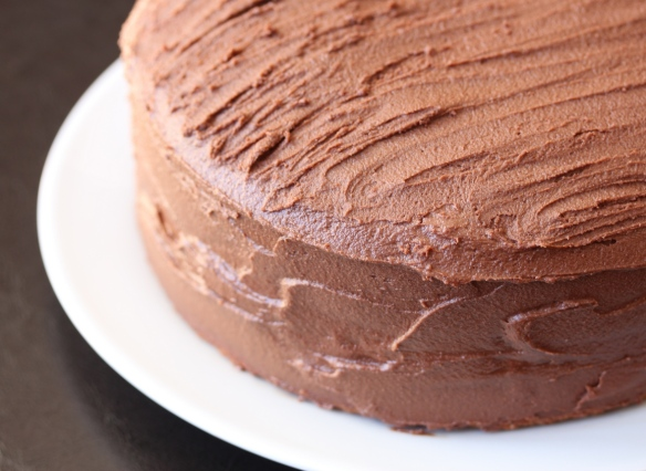Hot milk chocolate cake 1