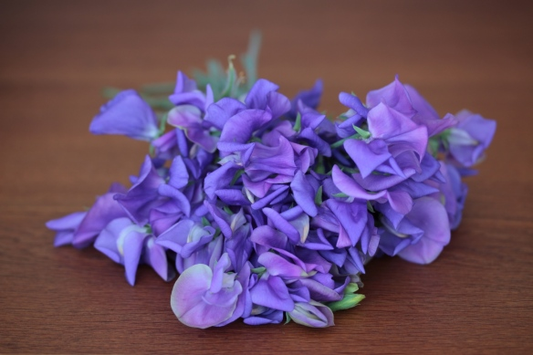 Sweet peas lavender