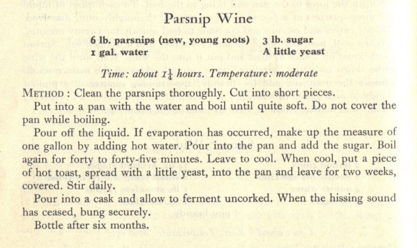Parsnip wine recipe