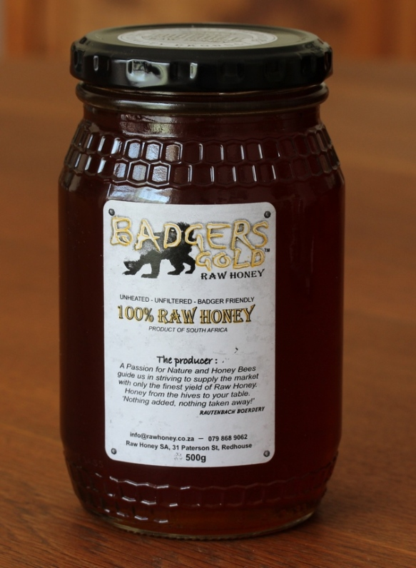 Raw badger friendly honey