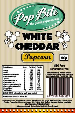 Popbite white ceddar