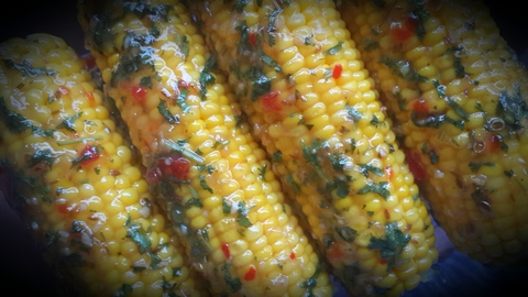 sweet chilli coriander corn