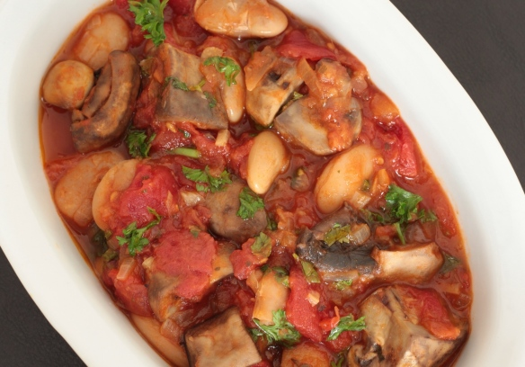 Mushroom butterbean tomato